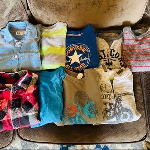 Boys lot sweaters long sleeve shirts size 6/7